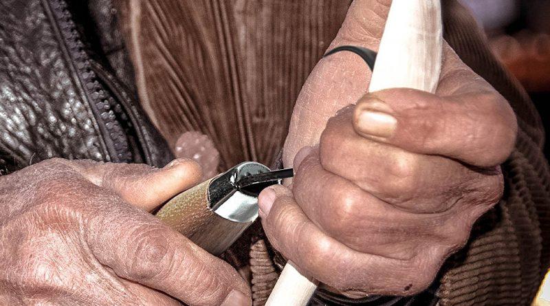 frost schälmesser 164 gebogenes Schnitzmesser