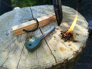 feuer kienspan machen grillen